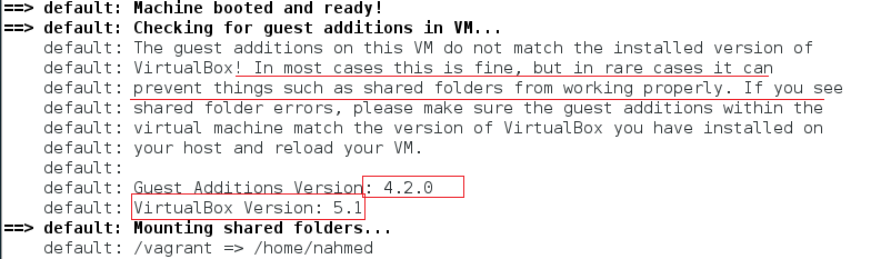 VirtualBox version