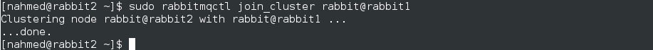 rabbitmqctl join cluster